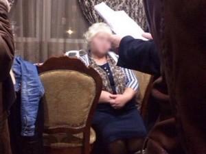 На фото - одна з НЕ щасливих суддів корупціонерок. фото з фейсбуку Антона Геращенка