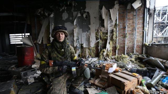 Сергій Галян впродовж дев'яти днів захищав Донецький аеропорт (фото Сергія Лойка)
