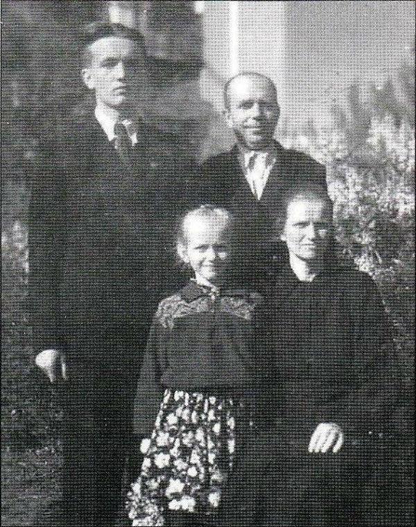 З батьками та сестрою. Черкащина, 1960-ті