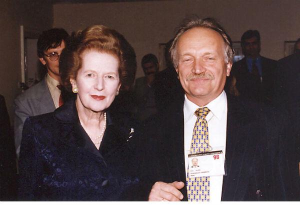 З Марґарет Тетчер