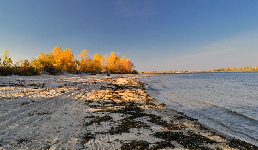 Осінній пляж. Фото МандрівникЧеркаси