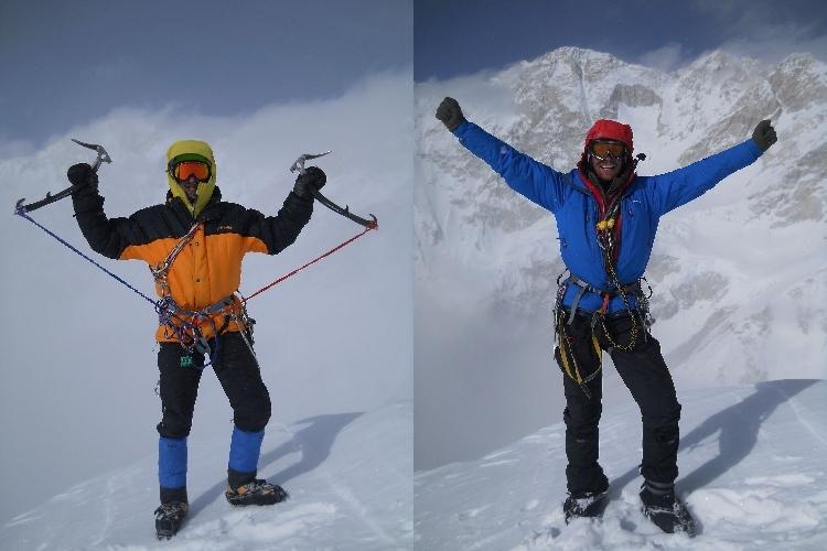 Микита Балабанов і Миїайло Фомін на вершині гори Талунг