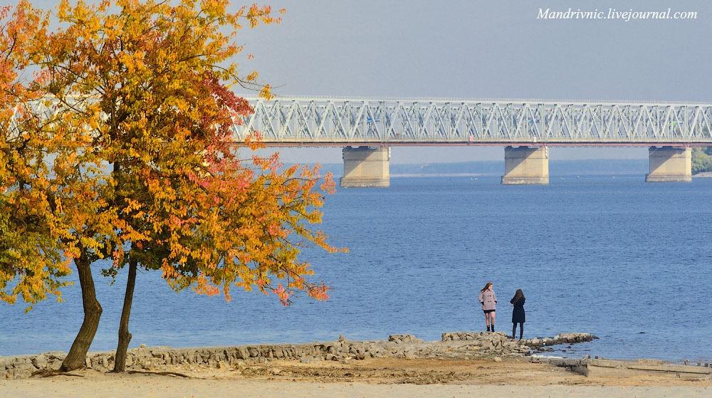 Вид на міст через Дніпро. Черкаси
