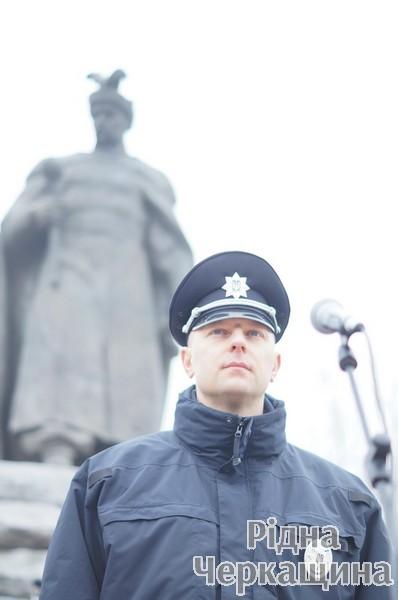 Очільник черкаських патрульних Вадим Лисничук